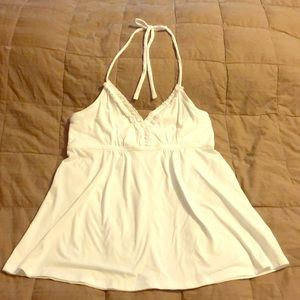White halter top-new with tags